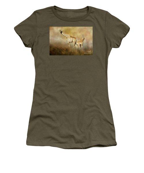 Curious Giraffes Women's T-Shirt (Athletic Fit)
