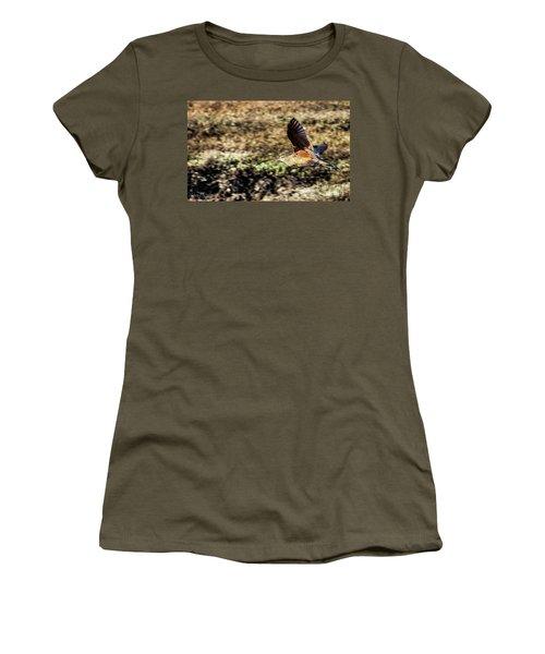 Curlew In Flight Women's T-Shirt