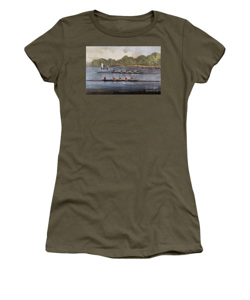 Currier & Ives: Rowing Contest Women's T-Shirt