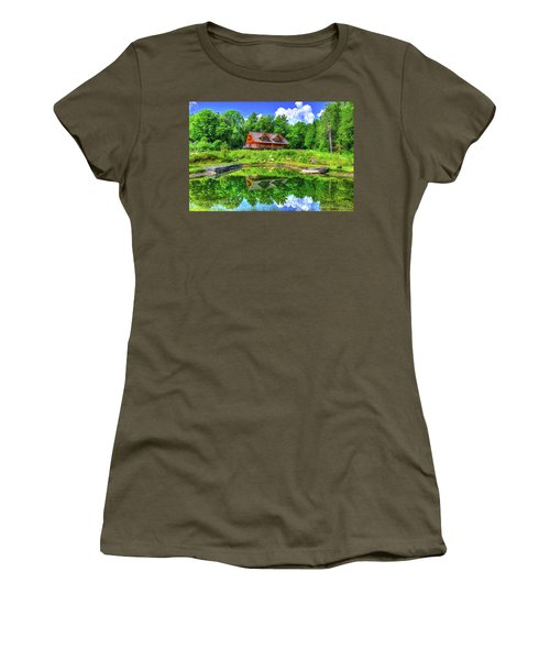 Women's T-Shirt (Junior Cut) featuring the photograph Curtis Vance Memorial Apple Orchard by Jim Boardman