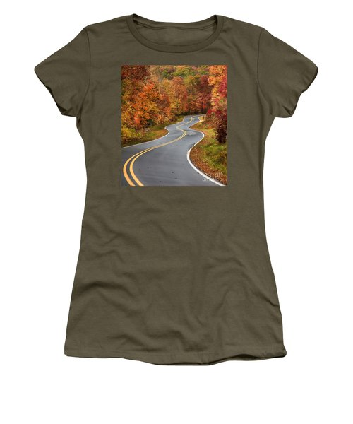 Curvy Road In The Mountains Women's T-Shirt