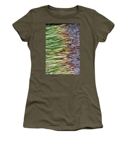 Cut Grass And Pebbles Women's T-Shirt (Athletic Fit)