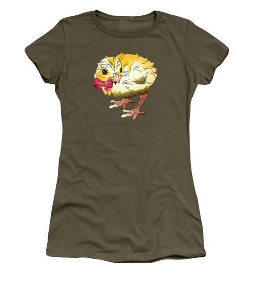 Women's T-Shirt (Junior Cut) featuring the digital art Cute Chick by MM Anderson
