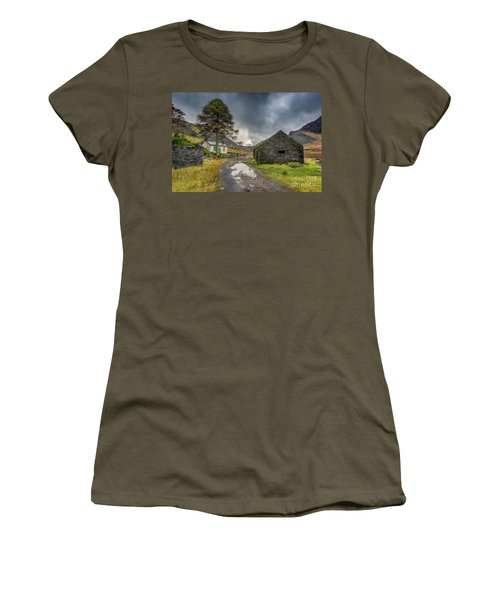 Women's T-Shirt (Junior Cut) featuring the photograph Cwmorthin Slate Ruins by Adrian Evans