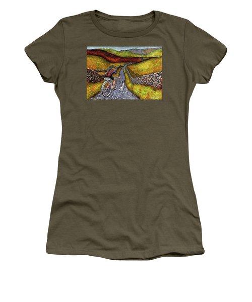 Lancashire Lanes II Women's T-Shirt (Junior Cut) by Mark Jones