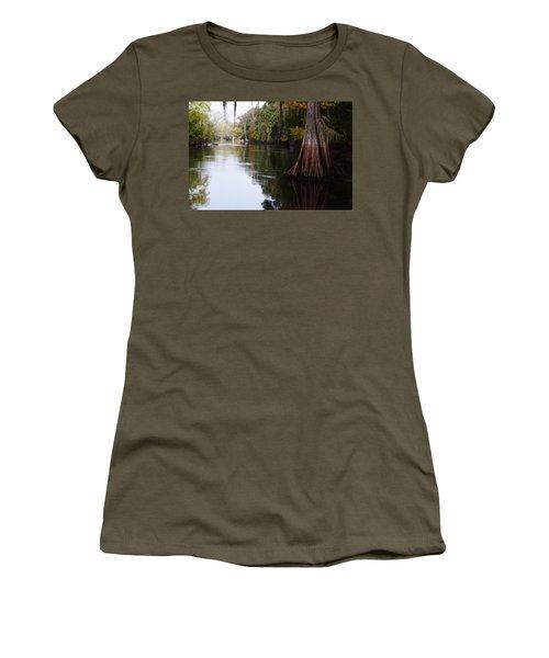 Cypress High Water Mark Women's T-Shirt (Junior Cut) by Warren Thompson