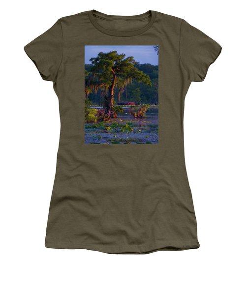 Cypress In The Sunset Women's T-Shirt (Junior Cut) by Kimo Fernandez