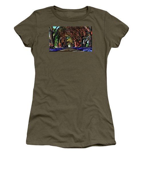 Cypress Tree Tunnel Women's T-Shirt (Athletic Fit)