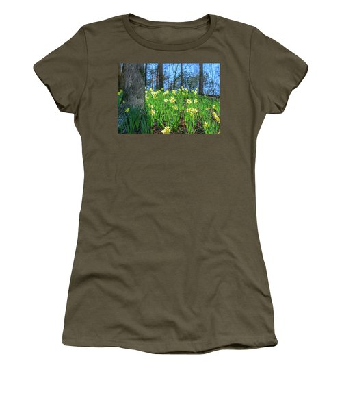 Daffodils On Hillside 2 Women's T-Shirt (Athletic Fit)