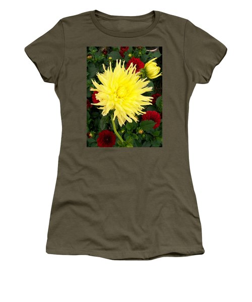 Dahlia's Women's T-Shirt (Junior Cut) by Sharon Duguay
