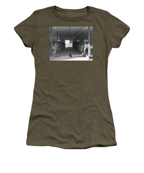 Dairy Farming Barn Scene Women's T-Shirt