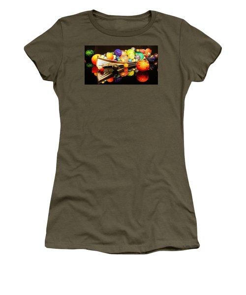 Glass Sculpture Boat Women's T-Shirt (Athletic Fit)