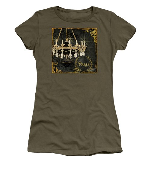 Women's T-Shirt (Athletic Fit) featuring the painting Dance The Night Away 2  by Audrey Jeanne Roberts