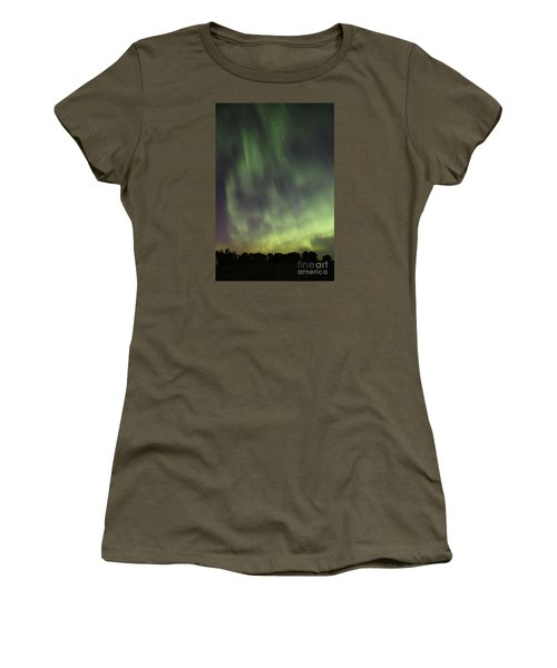 Women's T-Shirt (Junior Cut) featuring the photograph Dancing With The Dipper by Larry Ricker
