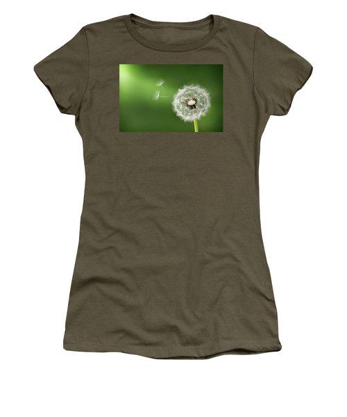 Women's T-Shirt (Junior Cut) featuring the photograph Dandelion by Bess Hamiti