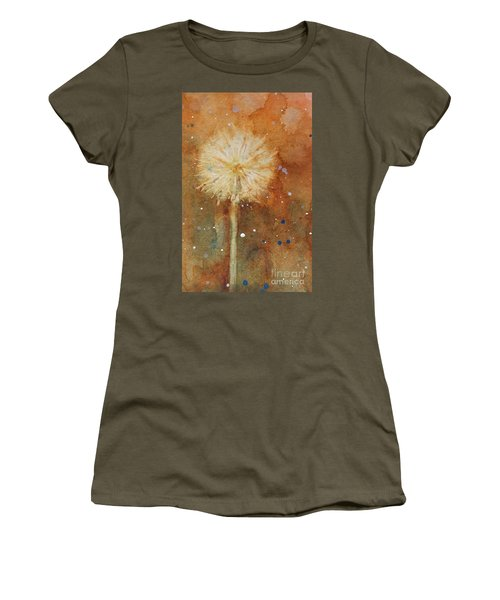 Dandelion Clock 1 Women's T-Shirt (Athletic Fit)