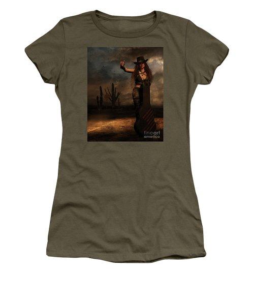 Dark Desert Highway Women's T-Shirt (Junior Cut) by Shanina Conway