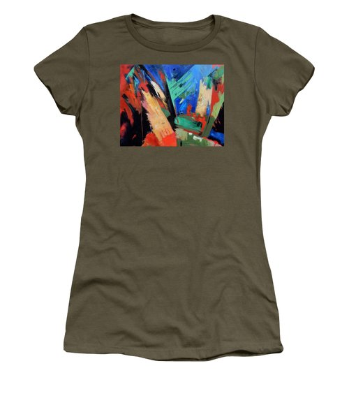 Women's T-Shirt (Junior Cut) featuring the painting Darkness And Light by Gary Coleman
