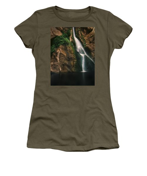 Darwin Falls - Death Valley Women's T-Shirt (Athletic Fit)