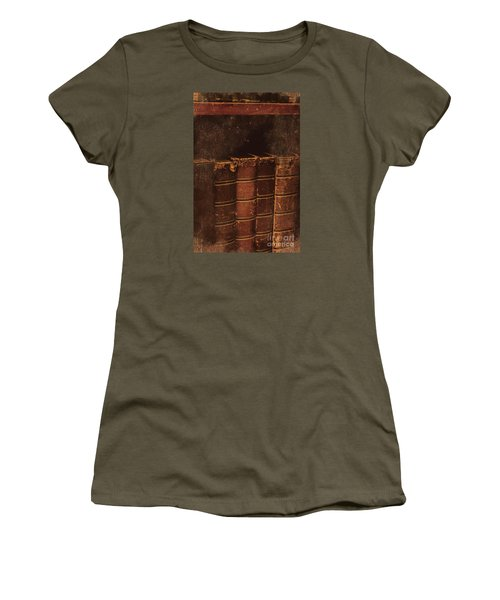 Women's T-Shirt (Athletic Fit) featuring the photograph Dated Textbooks by Jorgo Photography - Wall Art Gallery