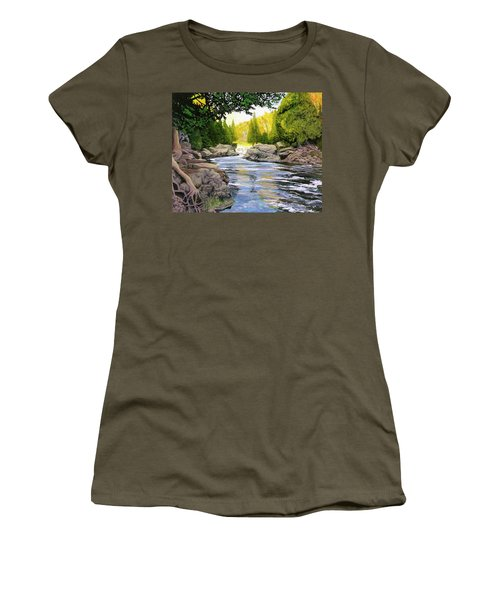 Dawn On The River Women's T-Shirt