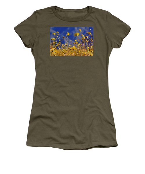 Women's T-Shirt (Junior Cut) featuring the photograph Death Valley Superbloom 505 by Daniel Woodrum