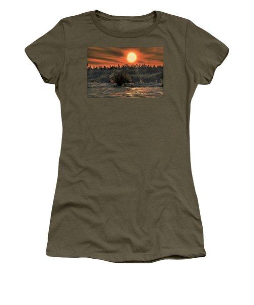December Sun #f3 Women's T-Shirt (Junior Cut) by Leif Sohlman