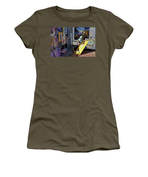 Deep Elum - Artist At Work  Women's T-Shirt
