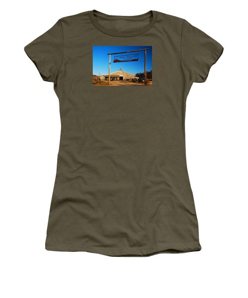 Women's T-Shirt (Junior Cut) featuring the photograph Deep Hollow Ranch  by James Kirkikis