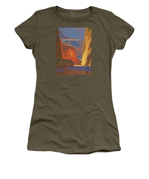 Deep In The Canyon Women's T-Shirt (Athletic Fit)