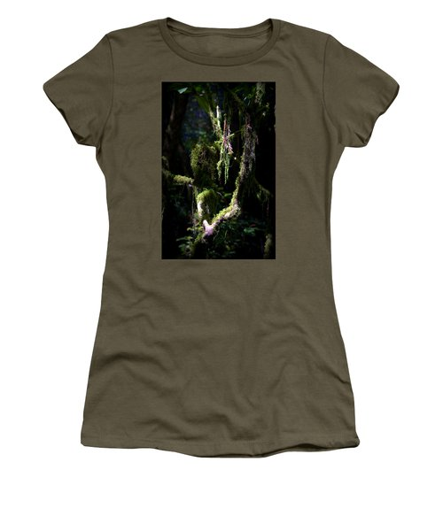Women's T-Shirt (Junior Cut) featuring the photograph Deep In The Forest by Lori Seaman