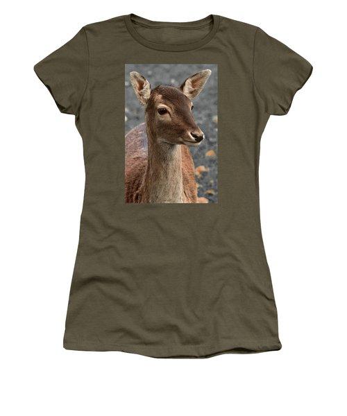 Deer Portrait Women's T-Shirt (Athletic Fit)