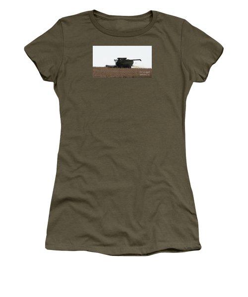 Deere Harvesting Women's T-Shirt (Junior Cut) by J L Zarek