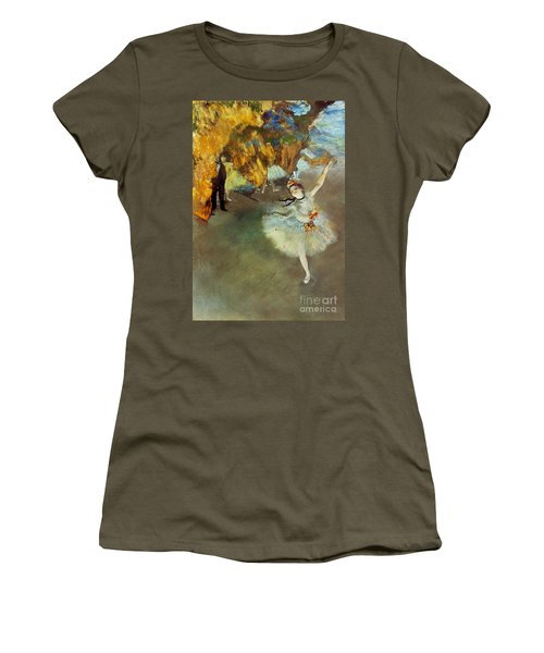 Degas: Star, 1876-77 Women's T-Shirt (Athletic Fit)