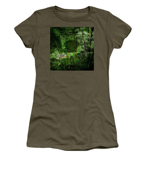 Women's T-Shirt featuring the digital art Delaware Green by Richard Ricci