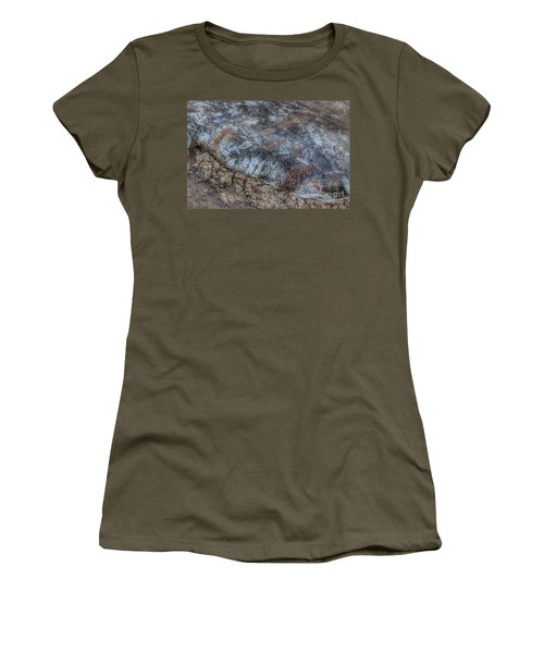 Delaware River Ice With Leaves Women's T-Shirt