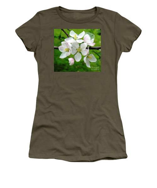 Delicate Apple Blossoms Women's T-Shirt (Athletic Fit)