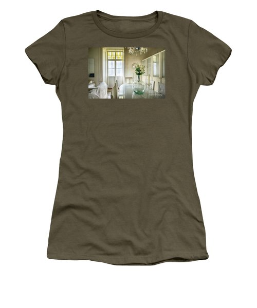 Women's T-Shirt (Athletic Fit) featuring the photograph Demijohn And Window Color Cadiz Spain by Pablo Avanzini