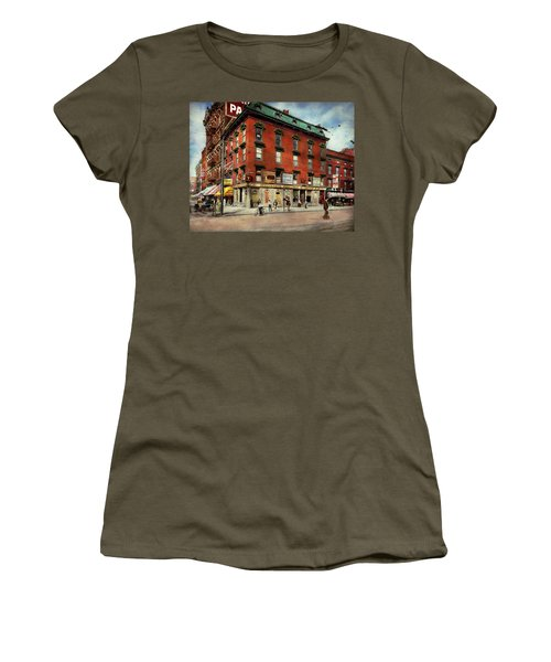 Women's T-Shirt (Athletic Fit) featuring the photograph Dentist - Peerless Painless Dental Parlors 1910 by Mike Savad