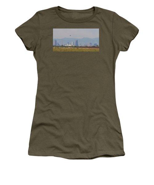 Denver Colorado Pretty Bird Fly By Women's T-Shirt (Junior Cut) by James BO Insogna