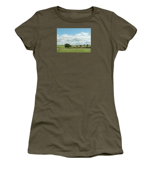 Derbyshire Landscape Women's T-Shirt (Junior Cut) by Mini Arora