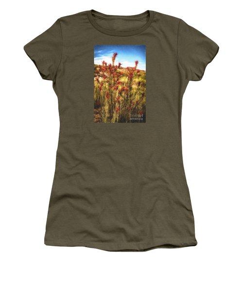 Women's T-Shirt (Junior Cut) featuring the photograph Desert Flora  ... by Chuck Caramella
