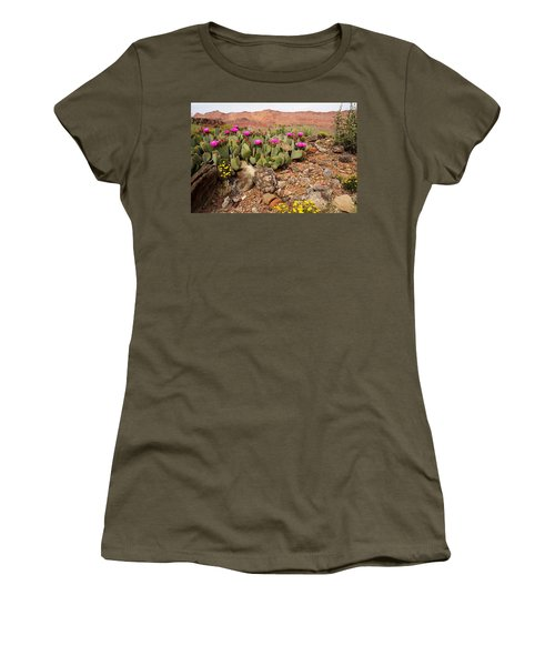 Desert Flowers Women's T-Shirt (Athletic Fit)