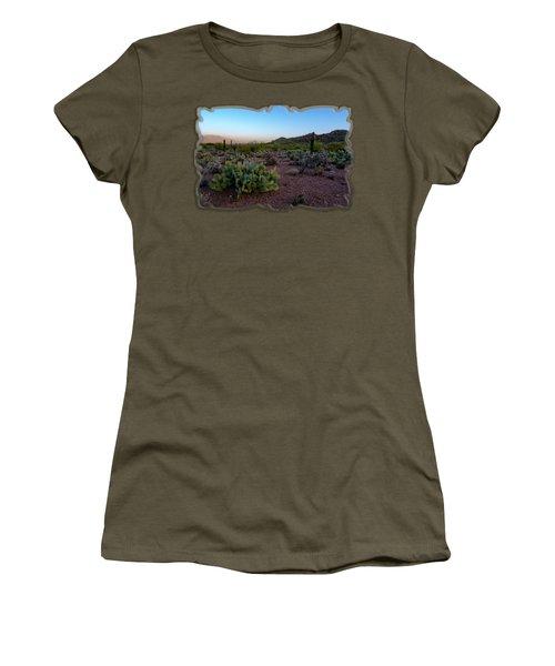 Desert Foothills H29 Women's T-Shirt (Junior Cut) by Mark Myhaver