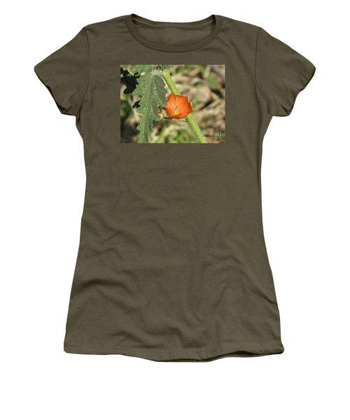 Desert Globemallow Bloom 202 Women's T-Shirt (Junior Cut) by En-Chuen Soo
