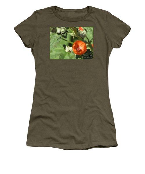 Desert Globemallow Bloom 215 Women's T-Shirt (Junior Cut) by En-Chuen Soo