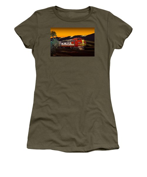 Desert Palms Women's T-Shirt (Athletic Fit)