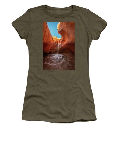 Desert Waterfall Women's T-Shirt (Athletic Fit)