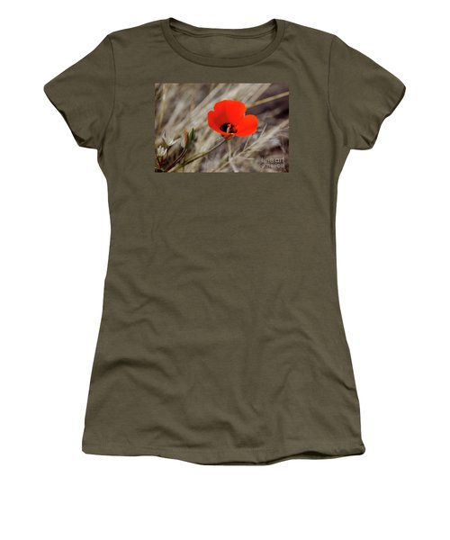 Women's T-Shirt (Athletic Fit) featuring the photograph Desert Wildflower by Frank Stallone