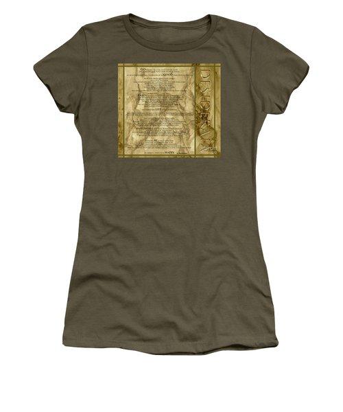 Desiderata #8 Women's T-Shirt (Junior Cut) by Claudia Ellis